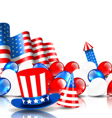 Festive Background in American National Colors