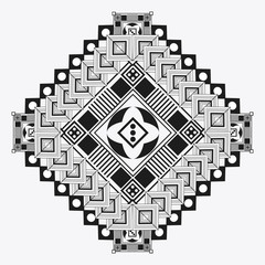 Tribal design. black and white abstract figure. vector graphic