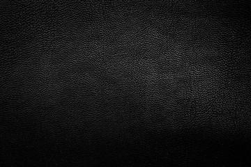 Black leather texture closeup background.