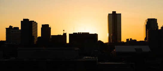 Sunrise Buildings Downtown City Skyline Knoxville Tennessee Unit