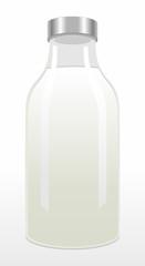 A bottle of milk vector illustration