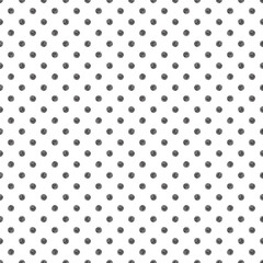 Seamless pattern with polka dot stylish doodle. Casual texture.
