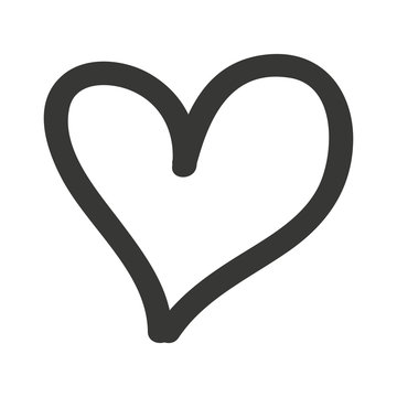 heart drawn  isolated icon design