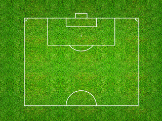 Half of football field or soccer field pattern and texture for create soccer tactic.