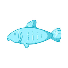 Fish icon, cartoon style