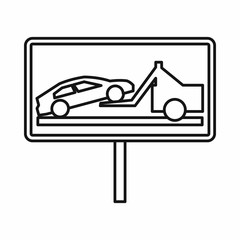 No parking sign icon, outline style
