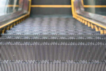 escalator,Up and down escalators in public building.
