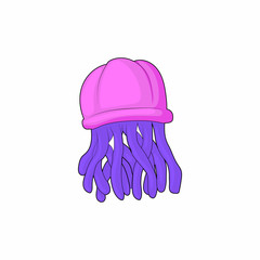 Jellyfish icon in cartoon style