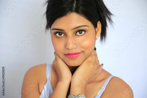 Beautiful Indian muslim girl in traditional Indian salwar