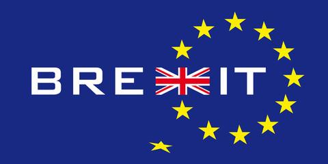 Brexit Symbol mit EU Sternen