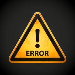 error sign