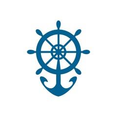 Symbol logo yacht icon transportation tools anchor nautical