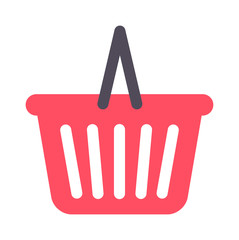 Shopping basket icon vector illustration. Basket icon market retail store buy sale shopping trolley cart. Shopping trolley cart purchase ecommerce basket icon customer purchase symbol.