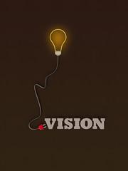 Fototapeta Vision - Typo Glühbirne Stecker D obraz