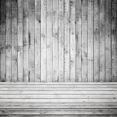 Abstract empty white wooden interior