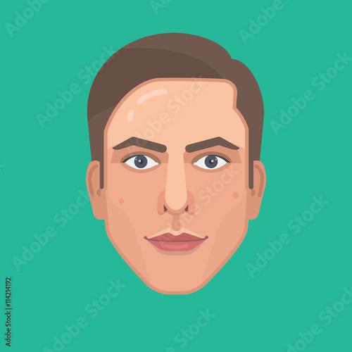 vector avatar flat design character portrait face stock image