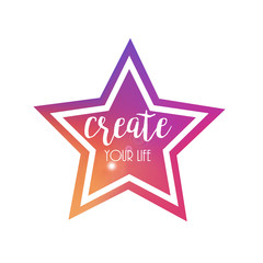 Colourful Star Frame.Vector Background, Backdrop and Design Element for Your Design.