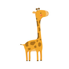Giraffe Realistic Childish Illustration