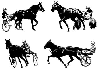 Trotters race sketch illustration