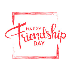 Happy friendship day lettering