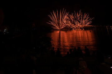 Fireworks on the lake