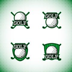Set of golf labels. Logo of golf championship. Vector illustration.