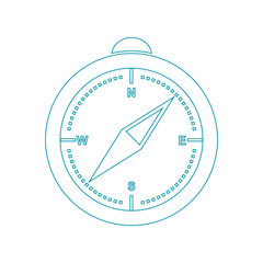 illustration of a compass. Compass  line style vector.