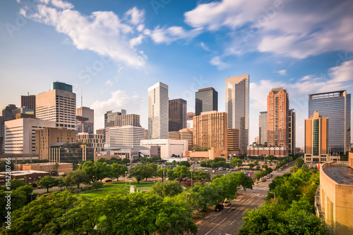 Fototapete Houston Texas Skyline