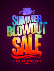 Sizzling discounts, summer blowout sale text design
