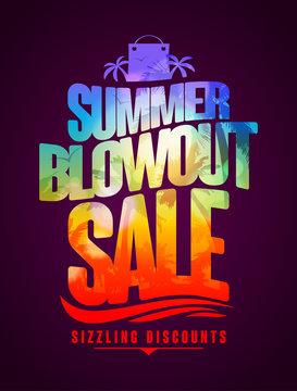 Sizzling discounts, summer blowout sale text design