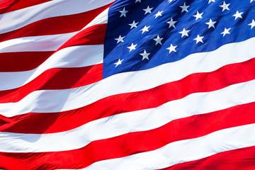 flag of united states.closeup background