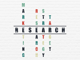 Marketing concept: Research in Crossword Puzzle
