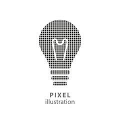 Lamp - pixel illustration.