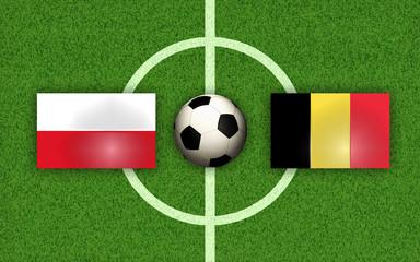 Fußball Football Soccer Poland vs Belgium