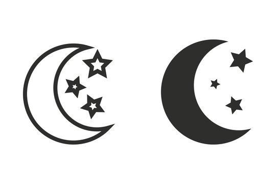 Moon star - vector icon.