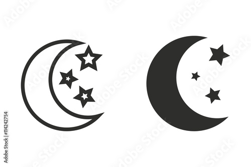 """moon star - vector icon."""" stock image and royalty-free vector"""