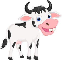 funny cartoon cow for you design