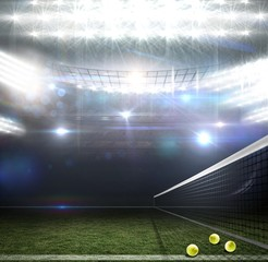 Composite image of composite image of a tennis net