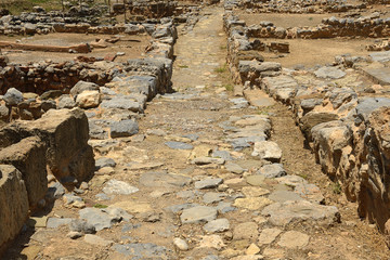 The ruins of the Minoan palaces and cities Zakros of Crete, UNESCO tentative list. It is eastern Crete, sites of archaeological and historical interest, Greece