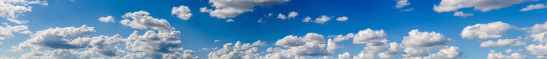 Canvas Prints Heaven Panorama Landscape Of White Cumulus Clouds On Blue Sky
