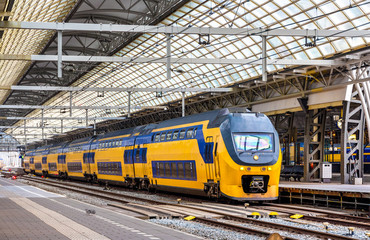 Train at Amsterdam Centraal station