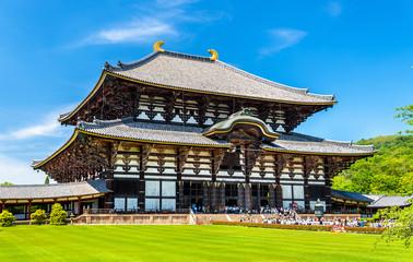 Foto auf Leinwand Kultstatte Great Buddha Hall of Todai-ji temple in Nara