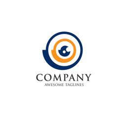Supervision logo sign. Medicine logo. Medical logo, abstract eyes logo