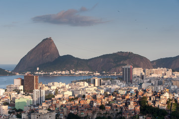 Wall Mural - Rio de Janeiro Flamengo District and Sugarloaf Mountain