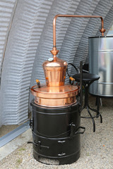 Copper Still Pot