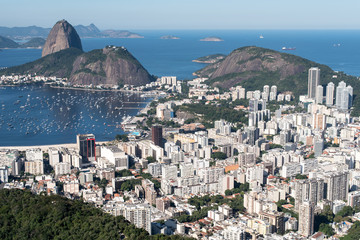 Wall Mural - Botafogo Neighborhood View With the Sugarloaf Mountain View, Rio de Janeiro