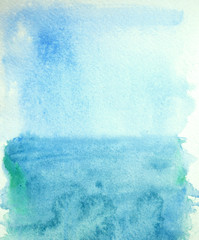 Abstract watercolor sky and sea, background for your design