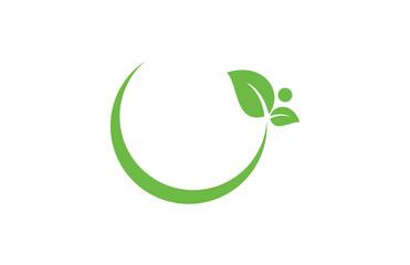 leaf circle vector logo