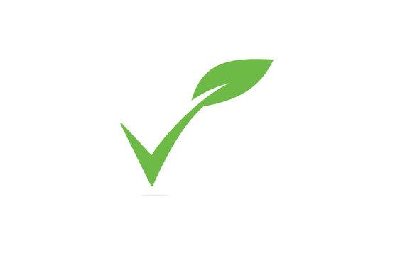 leaf check organic logo