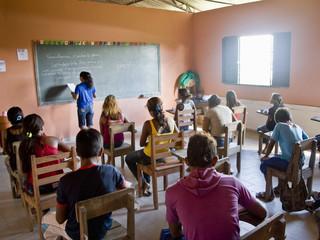 Children in School in Cuxiu Muni, Amazon River, Brazil